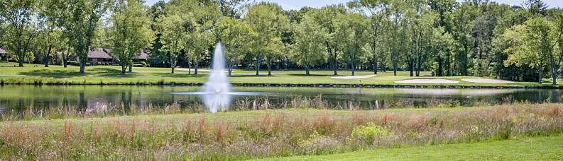 Golf Course Fountain Close Up